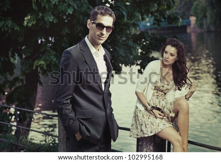 Elegance couple - stock photo