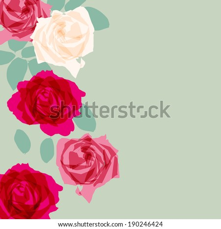 Elegance Seamless pattern with flowers rose floral  background