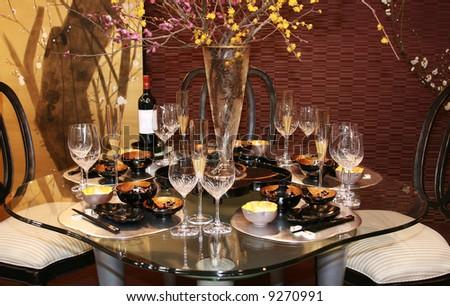 Elegance table setting - stock photo
