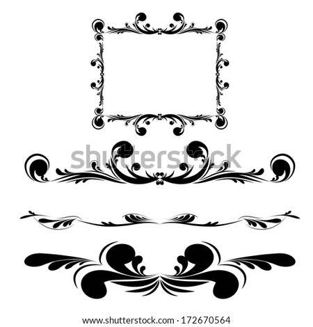 Elegance vintage frames for your text. Illustration.