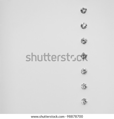 Elegance White Abstract Background with Diamonds - stock photo