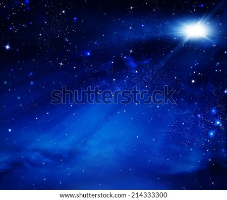 elegant abstract background of the night sky - stock photo
