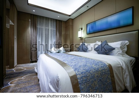 Elegant and comfortable home & hotel bedroom interior