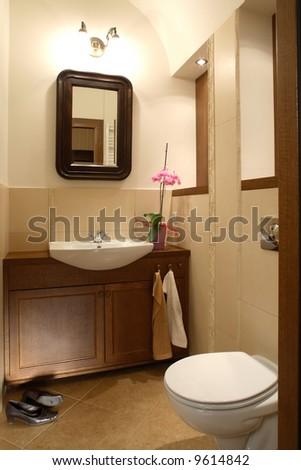 Elegant antique toilet - stock photo