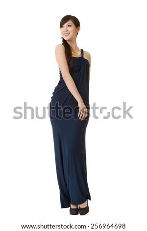 Elegant Asian beauty, full length portrait. - stock photo