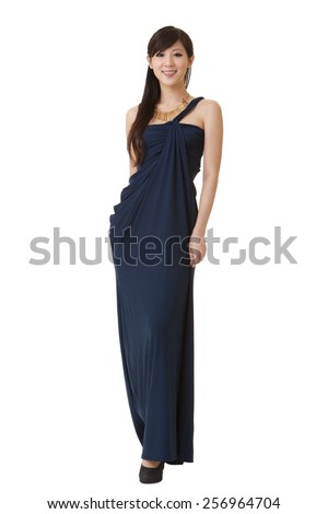 Elegant Asian beauty, full length portrait. - stock photo