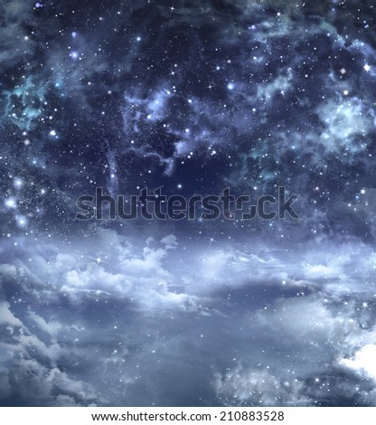 elegant background of the night sky - stock photo