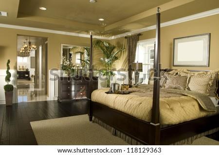 Elegant bedroom architecture stock images photos stock - Living room bedroom bathroom kitchen ...