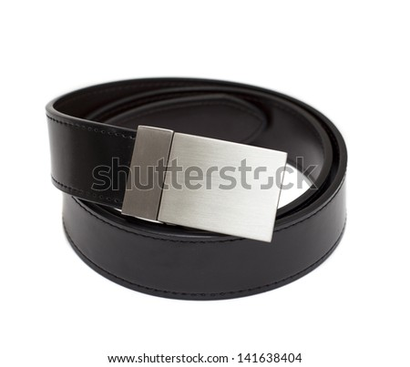 elegant belt on white background