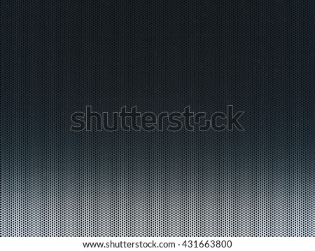 Elegant black abstract metal comb grid or grille background. 3d Rendering