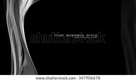 Elegant black and white background for your awesome ideas. You can use it as background, design element or mask in graphics editors. Expect fast series continuation - stock photo