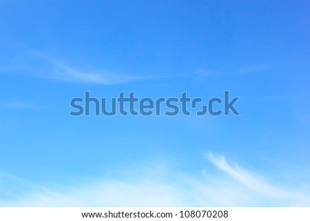 Elegant blank sky background - stock photo