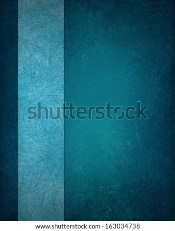 elegant blue background with light blue texture ribbon or stripe for website layout sidebar design, image has pale center and dark gradient blue border, soft vintage grunge background texture material