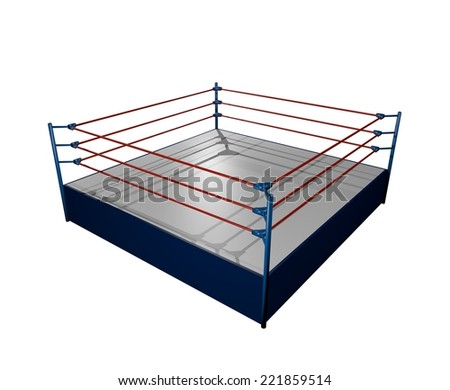 Elegant boxing arena - stock photo