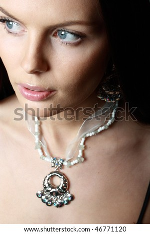 Elegant brunette woman. - stock photo