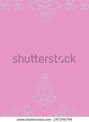 Elegant Card With Decorative Flowers , Design Element Can Be Used For Wedding,  Mothers Day, Valentines Day, Birthday Cards, Invitations - stock photo