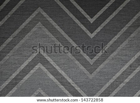 Elegant classic abstract chevron pattern background, grunge fabric texture - stock photo