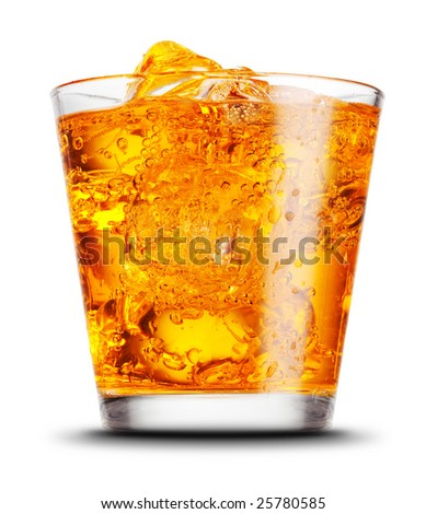 elegant cocktail glass isolated on white background