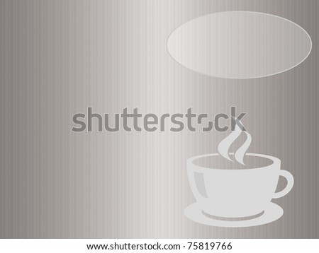 elegant coffee menu. Print and fold the center to get the cover of the menu.  space in the upper right to add your name or your content - stock photo