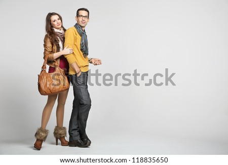 Elegant couple - stock photo