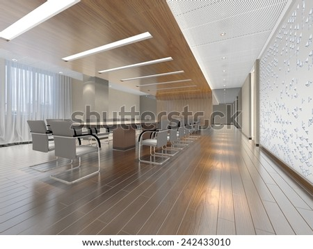 Elegant 3D interior design  - stock photo