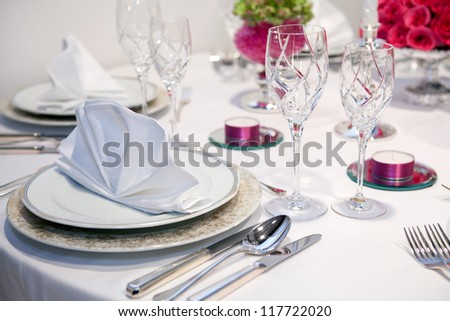 Elegant dinner party - stock photo