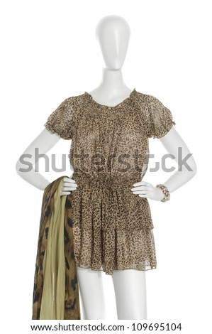 Elegant dress mannequin with scarf