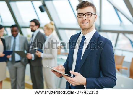 Elegant employee - stock photo