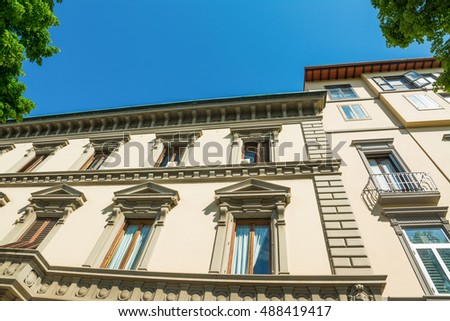 elegant facade in Florence, Italy