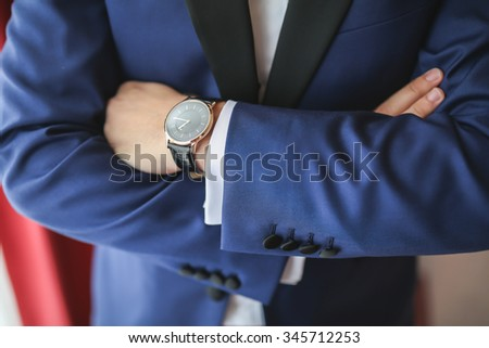 Elegant Fashion groom outfit suit