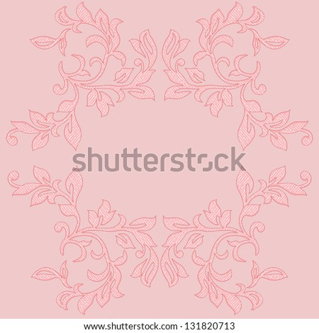 Elegant floral design element. Invitation card (vector format also available in my portfolio)