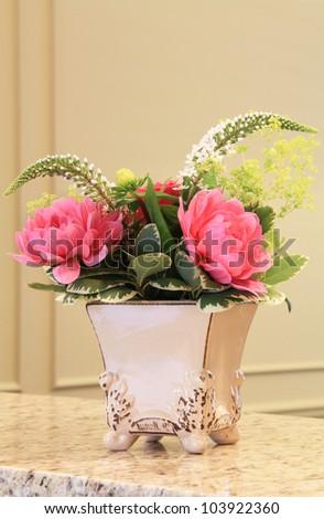 Elegant flower arrangement. - stock photo