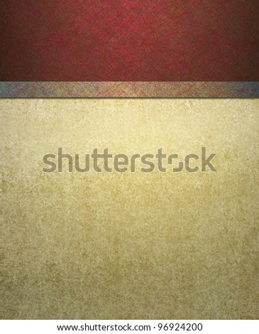 elegant formal red and cream background with abstract vintage grunge texture details and scratch texture illustration design on border frame with copyspace - stock photo