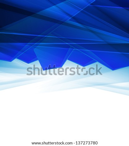 elegant geometric blue background design with space for your text