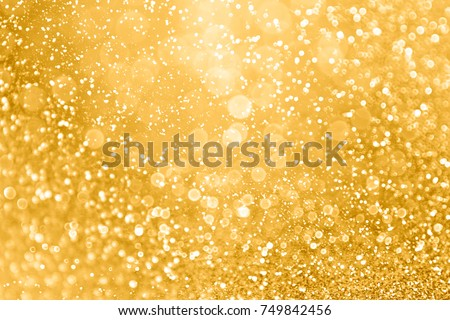 Elegant Gold Glitter Sparkle Confetti Background For Golden Happy Birthday Party Invite 50th Wedding Anniversary