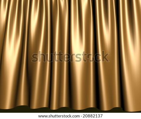 Elegant gold stage curtain