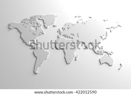 elegant gray global 3d map background illustration