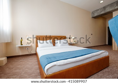 Elegant hotel bedroom interior