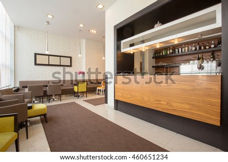 Elegant hotel cafe interior
