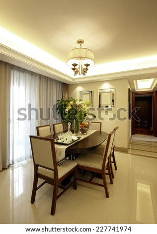 Elegant house interiors, Dining Room