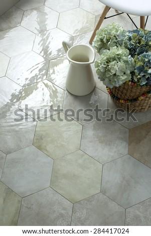 Elegant interior design decoration - stock photo