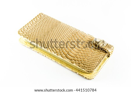 Elegant Leather wallet, beige color. With a gift box.
