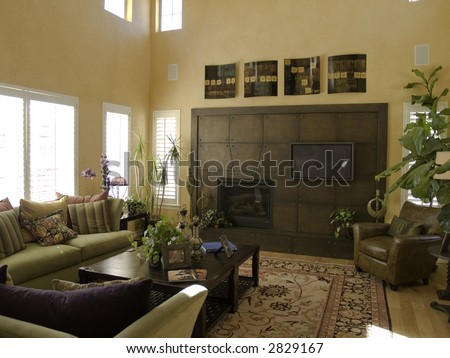 Elegant living room - stock photo