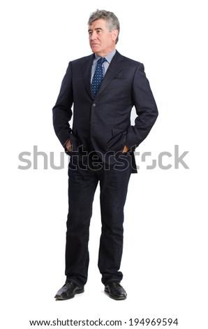 Elegant man thinking - stock photo