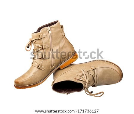 Elegant new brown shoes