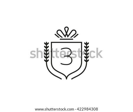 Number 3 With Crown
