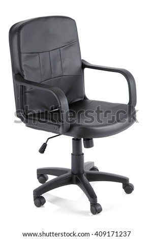 elegant office chair isolated on white background