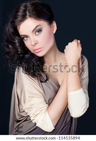 Elegant portrait - stock photo