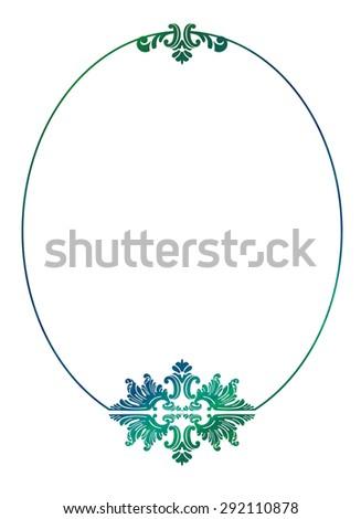 elegant round frame - stock photo
