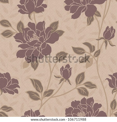 Elegant  seamless pattern background - For easy making seamless pattern use it for filling any contours - stock photo